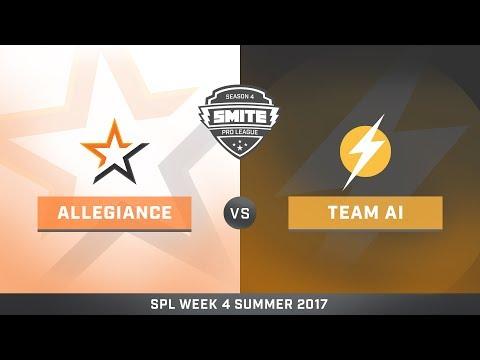 SPL Summer Split NA Team Allegiance vs Team AI Game 1