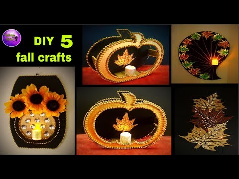 5 diy fall crafts | Fall craft ideas | art and crafts | Fashion pixies
