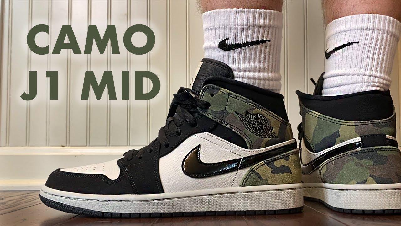 They put CAMO on the Jordan 1 Mid
