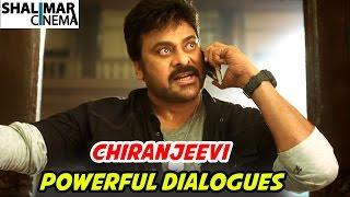 Megastar Chiranjeevi Powerful Punch Dialogues || Telugu Punch Dialogues || Shalimarcinema