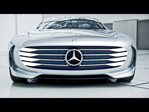 "Mercedes-Benz ""Concept IAA"" (Intelligence Aerodynamic Automobile) Footage"