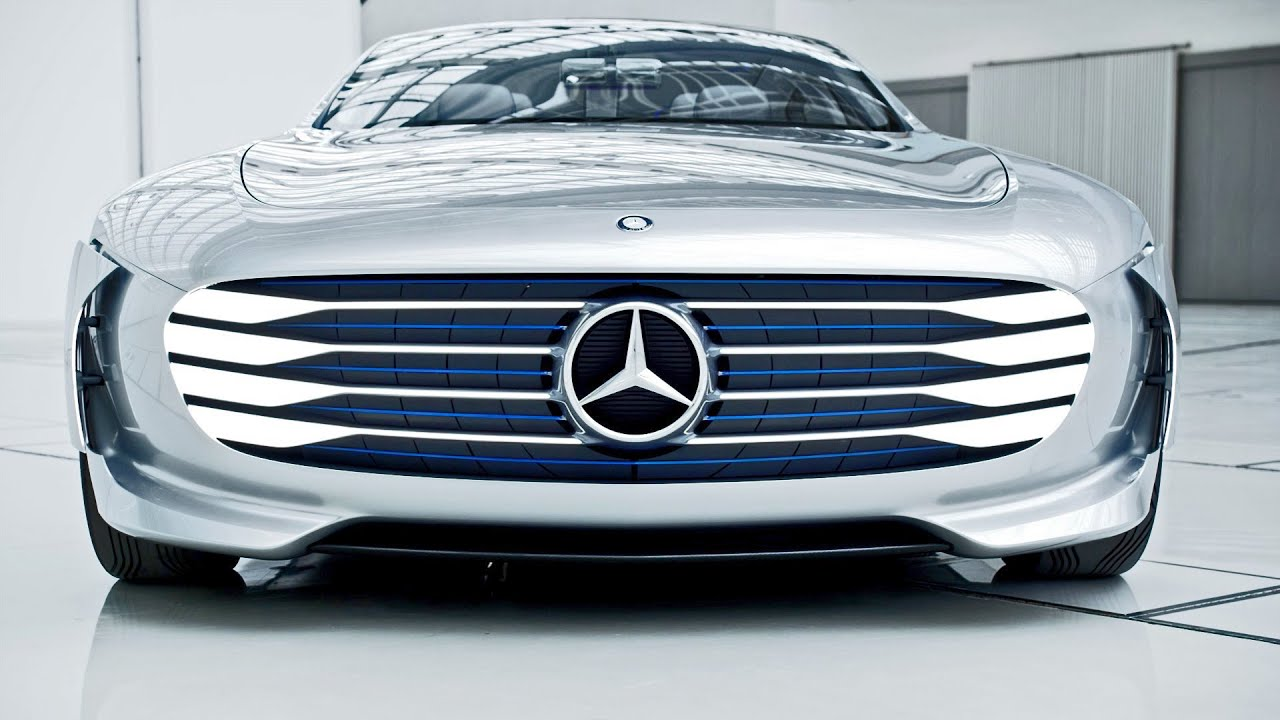 Mercedes Benz Concept Iaa Intelligence Aerodynamic Automobile Footage