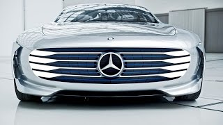 "Mercedes-Benz ""Concept IAA"" (Intelligence Aerodynamic Automobile) Footage"