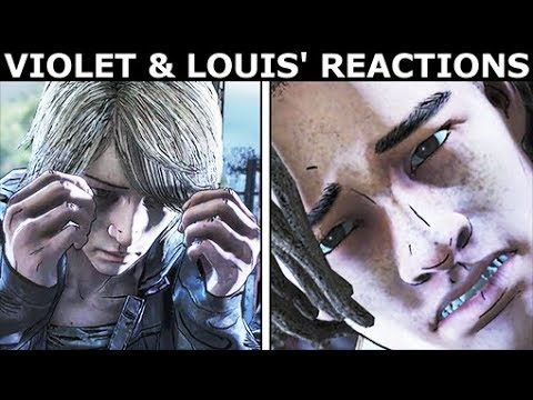 Violet & Louis' Reactions To AJ Shooting Tennessee - The Walking Dead Final Season 4 Episode 4