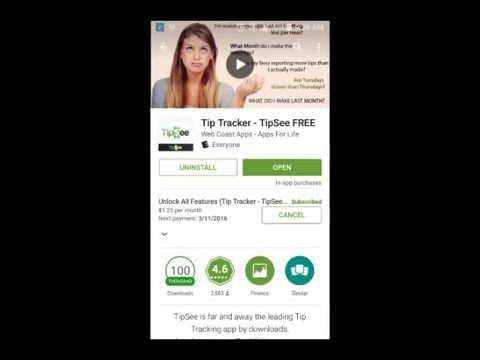 TipSee Tip Tracker How To Cancel Android Subscription