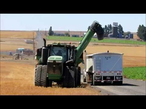 2016 Pivot Irrigation Hard Red Winter Wheat Harvest