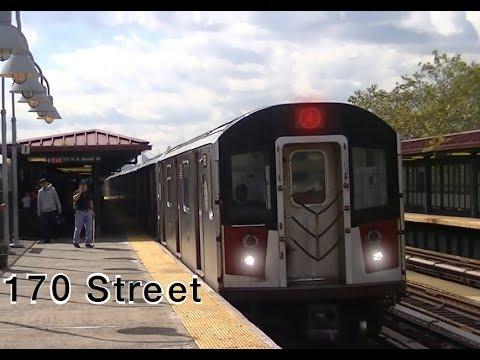 IRT Jerome Avenue Line: R142/A (4) trains @ 170th Street