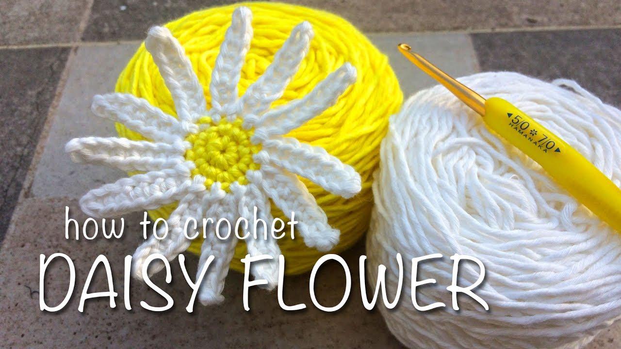 How to crochet daisy flower youtube how to crochet daisy flower izmirmasajfo