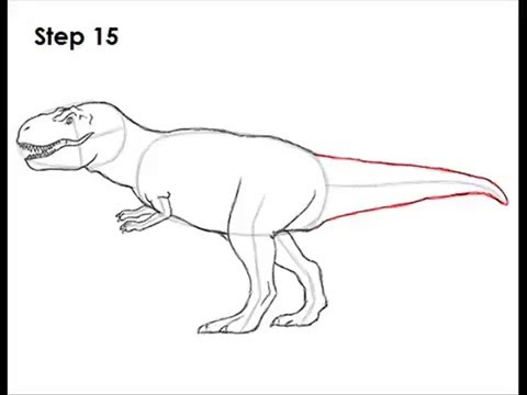 How To Draw T Rex Step By Step Youtube