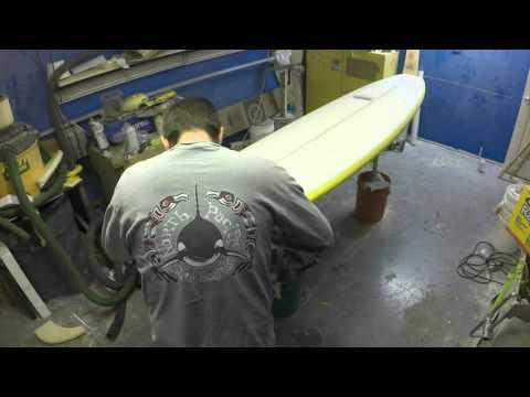 Surfboard Build Start to Finish, Shape, Glass, Gloss & Polish Stop Motion