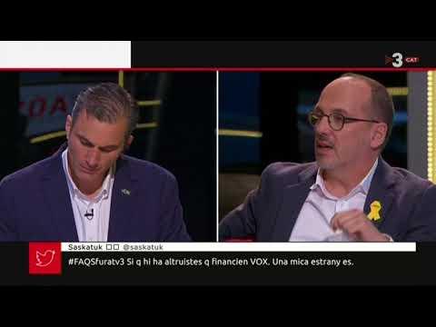 Histórica intervención de Javier Ortega en TV3
