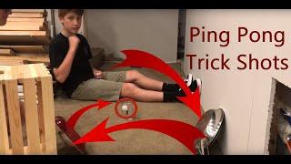 Ping Pong Trick Shots | Hot Shots