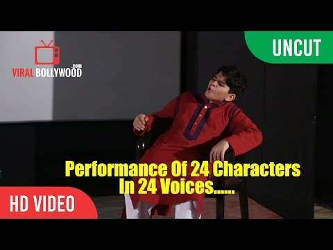 UNCUT - Krish Dewan The Child Acting Prodigy | Performance Of 24 Characters In 24 Voices