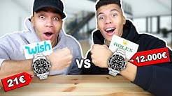 21€ ROLEX VS 12000€ ROLEX !!! (ORIGINAL VS FAKE VON WISH) | Kelvin und Marvin