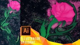 Roses and Thorn | Speedart [Vector Design]