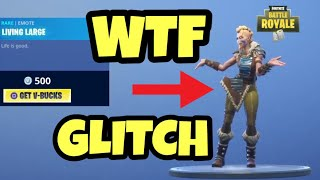 *NEW* FORTNITE CLOTHES GLITCH + LIVING LARGE EMOTE
