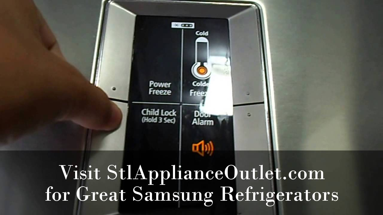 St Louis Appliance Samsung Refrigerators Setting Child Lock St Louis Appliance