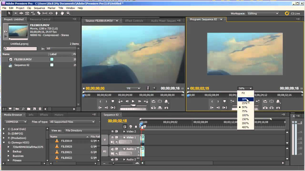 how to change volume adobe premiere