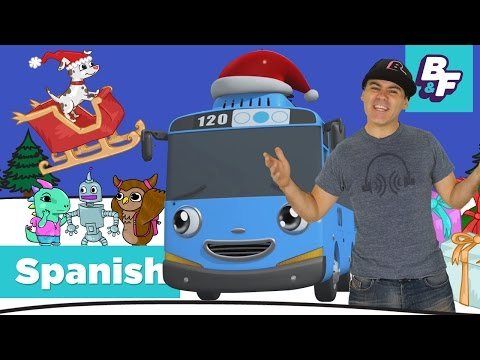 Spanish Christmas with Tayo the Little Bus and BASHO & FRIENDS - Merry Christmas! - ¡Feliz Navidad!