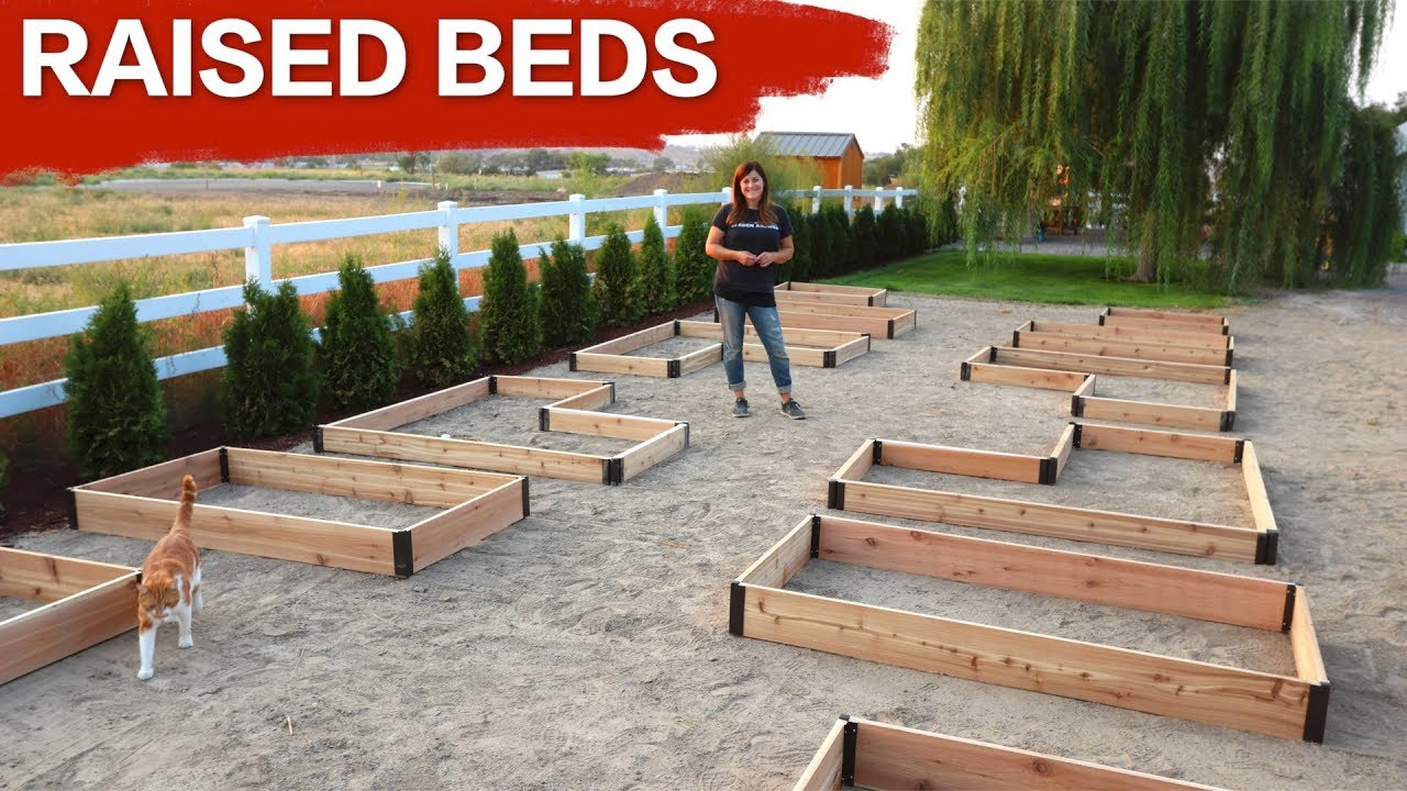 pallets words to garden watch youtube a using beds build how thousand raised