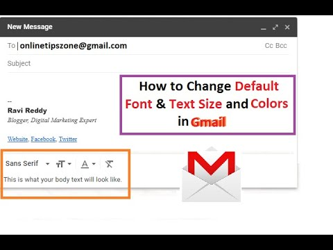 How to change Default Font in Gmail | Text Size