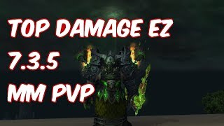TOP DAMAGE EASY - 7.3.5 Marksmanship Hunter PvP - WoW Legion