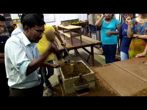 How To Make Green Sand Mould ,demo By Rajarshi Dey , Foundry Lab,IIT Kharagpur,2018