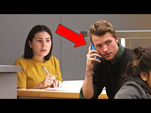 Embarrassing Phone Calls in the Library PRANK!