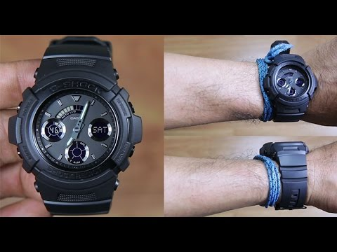4d4156e33 CASIO G-SHOCK AW-591BB-1A SPECIAL COLOR FULL BLACK - UNBOXING - YouTube