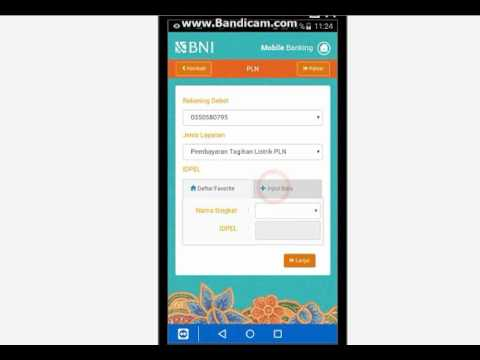 Cara bayar listrik via Bni Mobile Banking - YouTube