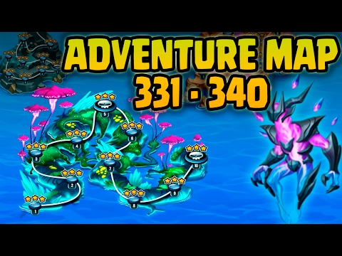 Monster Legends: Adventure Map - Level 331 to 340.