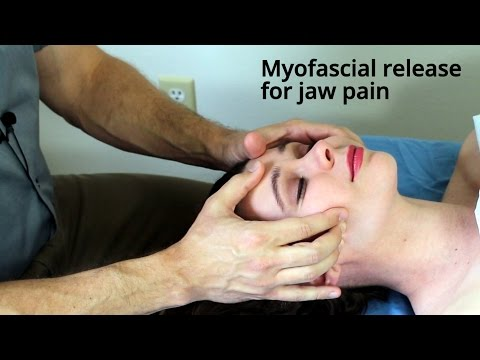 Massage Tutorial: Myofascial release for TMJ/jaw pain