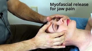 massage tutorial myofascial release for tmj jaw pain