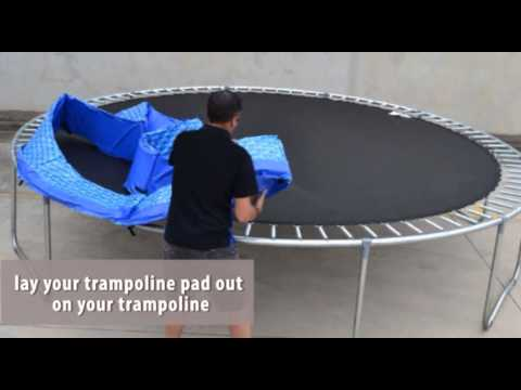 Premier Trampolines Pad Assembly Instructions Youtube