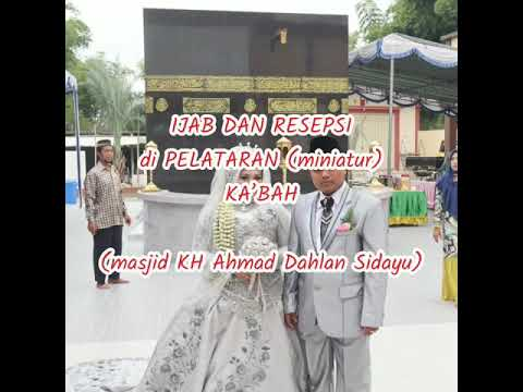 waaww!!!-menikah,-dipelataran-(replika)-kakbah,-masjid-kh-ahmad-dahlan-sidayu