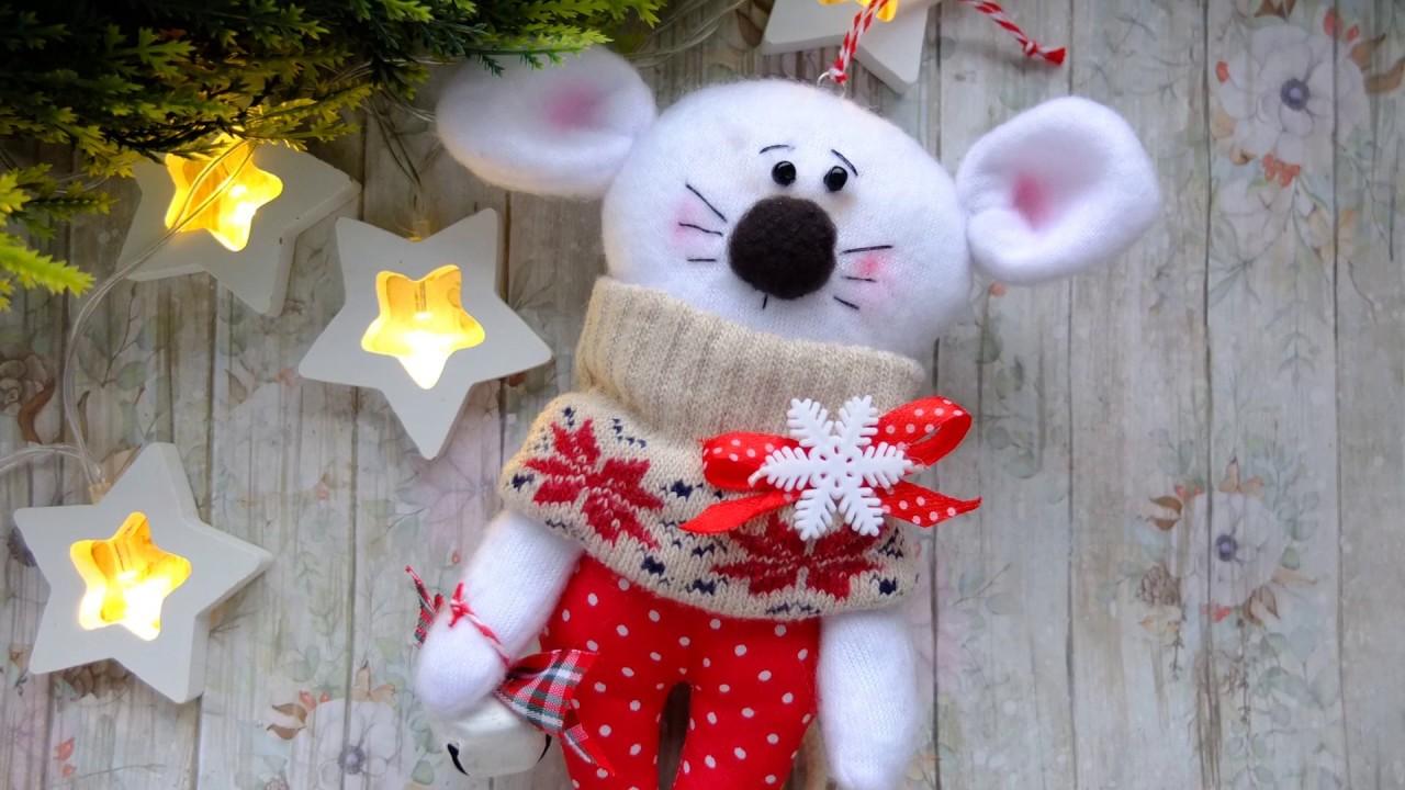 Шьем милую мышку символ 2020/елочная игрушка мышь/новогодняя мышка/Christmas mouse