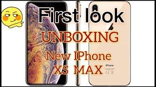 I phone XS MAX unboxing .. Apple I phone XS max.. hands on I phone XS max max