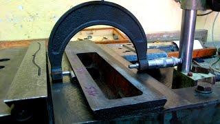 Шабрение ласточкиного хвоста - каретка токарного станка 1А616