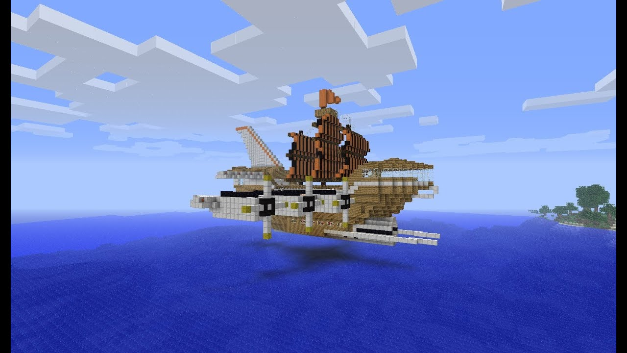 Chris Minecraft Adventure Ep 77 Flying Pirate Ship Raid