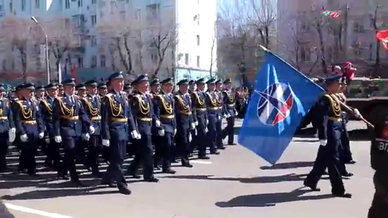 парад Победы 9 мая 2015 Комсомольск-на-Амуре - YouTube