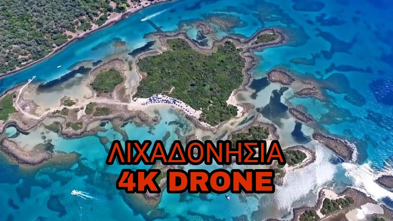 Lihadonisia Islands Greece Drone 4k Youtube