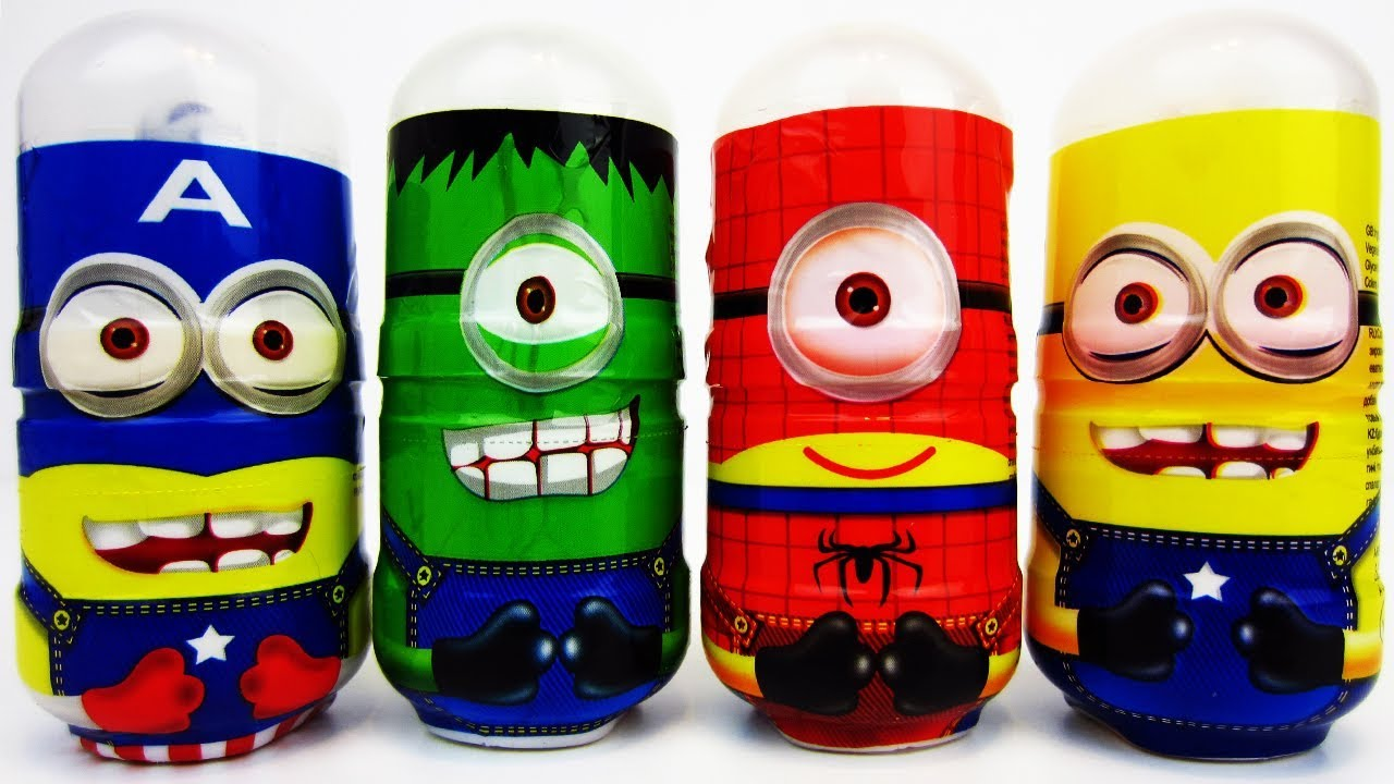 Funny Minions Superheroes Toy Candy