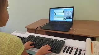 Учимся читать ноты с программой софт Моцарт, Нелли, 7 лет