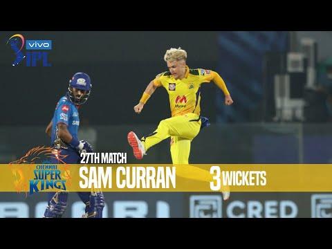 Sam Curran's 3 Wickets Against Mumbai Indians | 27th Match | Indian Premier League 2021