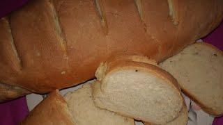 БАТОН домашний в духовке, простой рецепт/Домашний хлеб/Как испечь хлеб дома