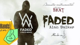 [ Beat - Lyric ] Faded - Alan Walker - acoustic instrumental cover by Flour Seven