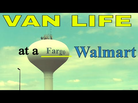 RV/Van Life at a Walmart in Fargo