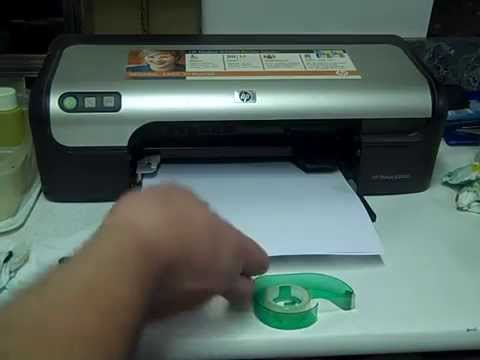Printing a Test Page - HP Deskjet D2460 - HP Printer Support