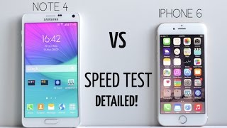 iPhone 6 vs Galaxy Note 4  Speed Test! (Detailed)