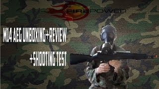 Airsoft Firepower M14 AEG Unboxing, Review, Shooting Test